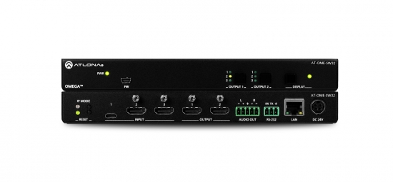 HDMI/USB-C Matrixväxel 3x2 i gruppen Signalhantering / Switchers/Matrixswitchers / Multiformat hos Audiovision AB (AT-OME-SW32)