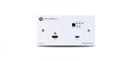 2x1 HDBaseT switch, HDMI & USB-C i gruppen Signalhantering / Extenders / Multiformat hos Audiovision AB (AT-OME-TX21-WP-E)