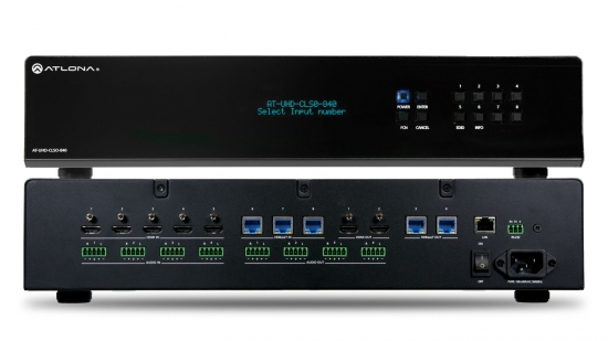 Presentationsmatrix 8x4 i gruppen Signalhantering / Switchers/Matrixswitchers / Multiformat hos Audiovision AB (AT-UHD-CLSO-840)