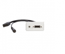 Uttagspanel - DisplayPort + 3.5mm